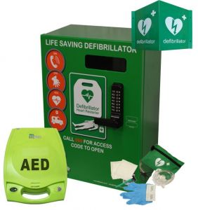 Zoll Plus and Defib Store 2000 Green with keypad lock