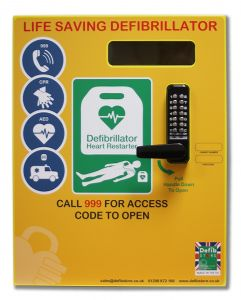 Telephone Box Mild Steel Defib Store 2000 Cabinet with Keypad Lock, Heater and LED  Light