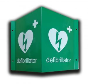 3D AED Metal Wall Sign