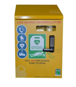 Defib Store 2000 Mild Steel Cabinet Locked with Canopy
