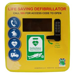 Defibstore 4000 Polycarbonate Defibrillator Cabinet with Keypad Lock, Heater and LED Light