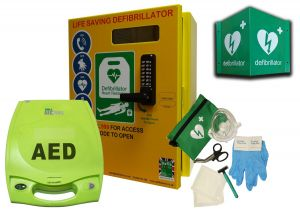 Zoll Plus and Defib Store 2000 with keypad lock