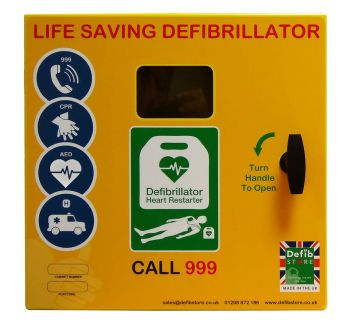 Defib Store 1000 STAINLESS STEEL Cabinet Unlocked with Heater and LED Light