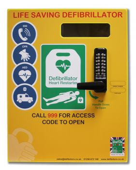 Defib Store 2000 Mild Steel Cabinet with Keypad Lock, Heater and LED  Light