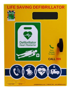 DefibStore 2000 Cabinet Unlocked with Canopy