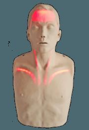 Brayden CPR Manikin with Red Illumination Lights