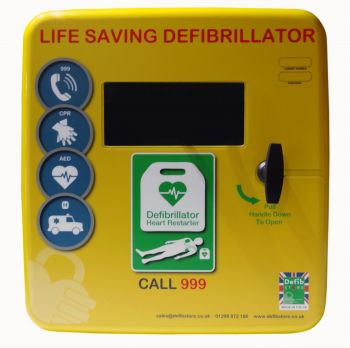 Defibstore 4000 Outdoor Plastic Defibrillator Cabinet Unlocked with Heater and LED light