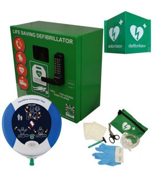 Heartsine 360P and Defib Store 1000 Green with keypad lock