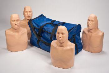 Practi-man pack of 4 standard adult manikins with bag