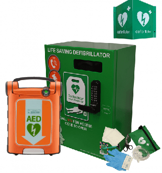 Powerheart G5 AED and Green Defib Store 3000 Package