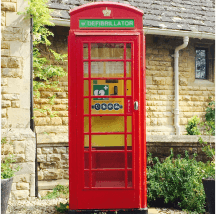Telephone Box Public Access Defib Package - Powerheart G5